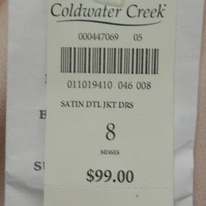 Coldwater Creek Dresses - Coldwater Creek Dress Suit sz 8 New with tags